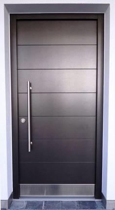 Haustür 6 Wood Exterior Door, Room Door Design, Wooden Main Door Design, Main Entrance Door, Glass Design, Room Doors, Glass Door, Door Glass Design, Exterior Doors