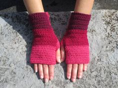 Crochet Mittens can someone make me these? Crochet Mittens, Crochet Gloves, Knit Crochet, Wrist Warmers, Hand Warmers, Knit Patterns, Stitch Patterns, Crochet Projects, Crochet Tutorials
