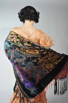 1930s Embroidered Shawl
