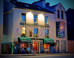 Trafalgar Hotel & Pub, West Quay, Ramsey, Isle of Man, UK.  Traditional pub situated on the harbour its is a popular pub just round the corner from the spectacular trackside viewing of the Isle of Man TT races.  It is a free house (not brewery owned) and has had the same owners for 21 years.  Photo: flickr.com/search/Trafalgar