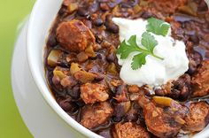 "6 minutes to skinny - Recipe: Slow Cooker Black Bean and Sausage Soup - Watch this Unusual Presentation for the Amazing to Skinny"" Secret of a California Working Mom Crock Pot Recipes, Slow Cooker Recipes, Soup Recipes, Cooking Recipes, Crockpot Meals, Sausage Crockpot, Crock Pots, Diet Meals, Freezer Meals"