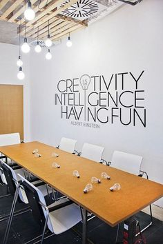 A great way to show off your core company values in a meeting room.