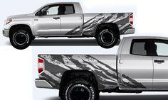 Toyota Tundra Shredder Hood And Truck Bed Decal M Vinyl - Custom tundra truck decals