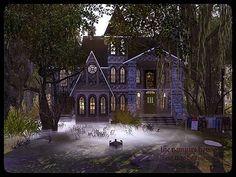 5 Lokasi Untuk Bertemu Vampire - Tips dan Trik Umroh Dari Ahli Untuk Anda Vampire House, Practical Magic House, Modern Vampires, Casas The Sims 4, Sims House Plans, Spooky House, Sims 4 Build, Gothic House, Sims 4 Custom Content