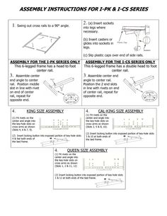 how to assemble the mantua i cs375 bed frame httpwww
