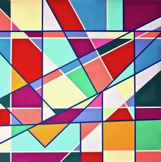Original Geometric Painting by Gray Jacobik   Abstract Art on Wood   Homophony