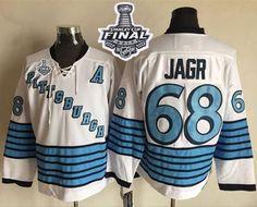 50478073a Penguins  68 Jaromir Jagr White Light Blue CCM Throwback 2017 Stanley Cup  Final Patch Stitched