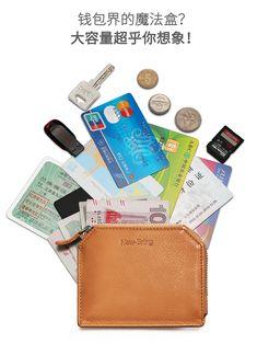 Leather Men, Leather Wallet, Rfid Wallet, Minimalist Fashion, Money Clip, Card Holder, Zipper, Orange, Zippers