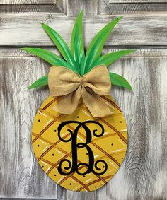 This Original Initial Pineapple Door Hanger is perfect! #zulilyfinds