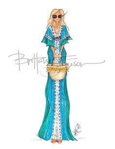 Kaftan // Jacie Duprie // Damsel in Dior [ brittanyfuson.blogspot.com ]