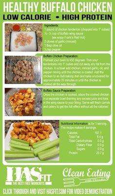 Healthy Buffalo Chicken Recipes - HASfit Healthy Dinner Recipe - Healthy Chicken Recipes by nell