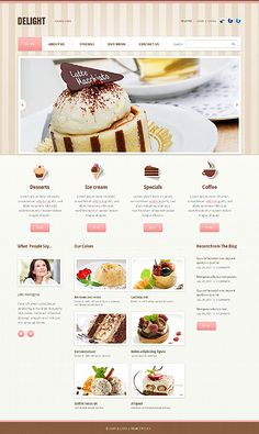 43 best cafe and restaurant website templates images on pinterest in