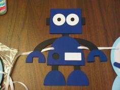 Robot garland! So cute!!!
