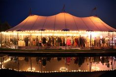 tent lighting for the reception