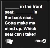 At cardsagainsthumanity.com, you can download the PDF and make ...