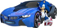 Sonic All-Star Racing The Hedgehog Decal Removable Wall Sticker Decor Art Giant Sonic The Hedgehog, Hedgehog Movie, Shadow The Hedgehog, Sonic Car, Anime Boy Sketch, Sonic Underground, Toy Cars For Kids, Sonic Fan Characters, Sonic And Shadow