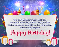 Image on Greeting and wishes for every day holidays. Video and animated gif's greeteings ecards.  http://greetings-day.com/wp-content/uploads/2015/08/The-best-birthday-wish.jpg