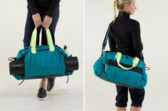A color block gym bag? Yes, please!