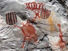 Pinturas rupestres no Parque Nacional Cavernas do Peruaçu (MG). / ©: WWF-Brasil/Aldem Bourscheit Ancient Art, Ancient History, Art History, History Of Typography, Painting & Drawing, Cave Painting, Vikings, Parks, Aboriginal Art