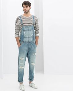 Totally love this Dungarees from Zara. Perfect for the Sunday brunch :D Zara Jumpsuit, 80s Fashion Men, Urban Fashion, Overalls Fashion, Fashion Outfits, Fashion Ideas, Moda 80s, Herren Outfit, Fashion Clothes
