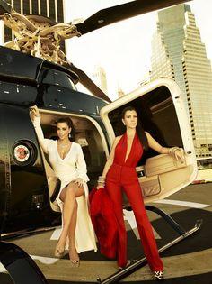 Kim and Kourtney Kardashian. Yes.
