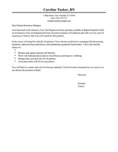 Registered Nurse Cover Letter Examples Simple Cover Letter Template, Professional Cover Letter Template, Reference Letter Template, Cover Letter Sample, Letter Templates, Resume Cover Letter Examples, Good Resume Examples, Cover Letter For Resume, Formal Business Letter Format