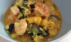 zucchini risotto with shrimps