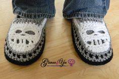 Glamour Skull Slipper Shoes - Men Sizes - Glamour4You
