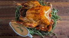 Cooking turkey upside down is a recipe for Thanksgiving deliciousness!