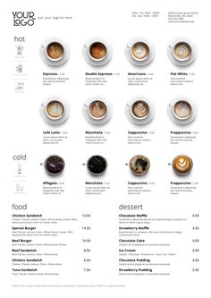 Print Menu Design for Coffee Shop / Cafe / Restaurant / Bistro / Resto by mean-inc | GraphicRiver Cafe Menu Design, Menu Card Design, Food Menu Design, Restaurant Menu Design, Restaurant Identity, Coffee Shop Interior Design, Coffee Shop Design, Food Graphic Design, Design Design