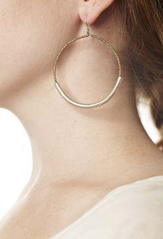 Joanna Gaines Earrings Elsabet: Gold Tube Earrings