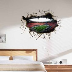 3D Mural Painting Home Wall Sticker Europe Decor background wallpaper Luxury soccer field * Read more reviews of the product by visiting the link on the image.