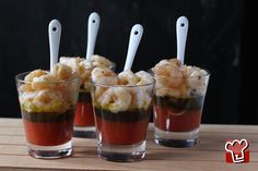 Gamberetti Al Vapore Con Gelatina Di Pomodori E Basilico