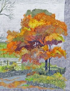 Landscape Quilts from Wisconsin Quilt Expo 2015 Patchwork Quilting, Applique Quilts, Art Quilting, Acrylic Landscape, Landscape Art Quilts, Landscape Paintings, Fiber Art Quilts, Art Watercolor, Tree Quilt