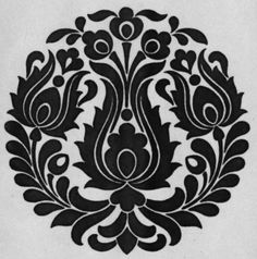 Hungarian Embroidery, Folk Embroidery, Hand Embroidery Patterns, Embroidery Designs, Stencil Patterns, Stencil Designs, Lino Art, Simple Rangoli Designs Images, Scandinavian Folk Art