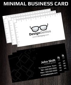 Buy Minimal Creative Business Card Template by Hotpin on GraphicRiver. Minimal Creative Business Card Template is very modern card with creative concept! Its suitable for any business or . Minimal Business Card, Cool Business Cards, Business Card Design, Creative Business, Business Card Template Photoshop, Name Card Design, Name Cards, Print Templates, Minimal Design