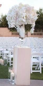 Wedding aisle flower décor, wedding ceremony flowers, pew flowers, wedding flowers, add pic source on comment and we will update it. www.myfloweraffair.com can create this beautiful wedding flower look.
