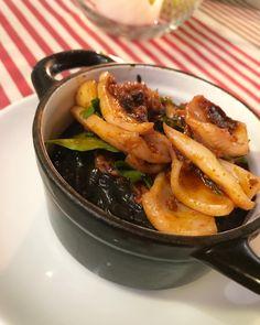 Risotto negro de Calamar y Sobrasada. #gastronomia #ibizasabor17