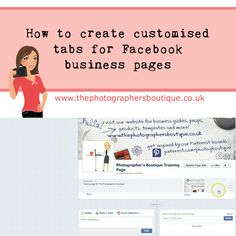 How to create customised tabs for Facebook business pages using Woobox #customfacebooktabs #thephotographersboutique