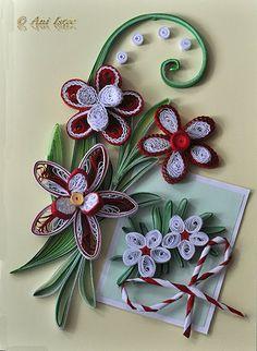 Printre hobby-uri: quilling, kusudama, origami, bijuterii handmade...: Quilling - Martisor