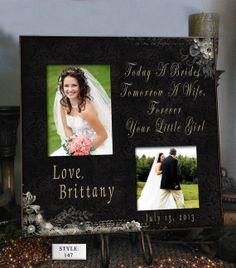 Personalized Wedding Photo Frame TOD_BR 16x16 by PhotoFrameCompany, $69.00