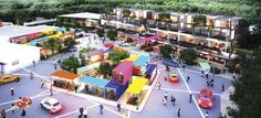 Shipping Container Design, Shipping Containers, Mall Facade, Plaza Design, Container Conversions, Container Shop, Casas Containers, Container Buildings, Property Development