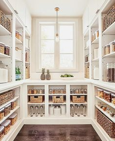 The pantry of our dreams. Kitchen Pantry Design, Home Decor Kitchen, Home Kitchens, Up House, House Rooms, Walkin Pantry Ideas, Pantry Room, Dream Home Design, Cuisines Design