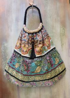 large tote BAG with  embroidery  fashion boho by agnesedejuliis, €53.00