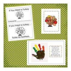 Turkey theme activities!  (this site is great!  All free activities.