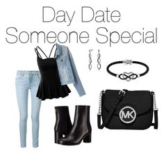 """""""Casual date w/ that special someone"""" by sara-ambrosini on Polyvore featuring Frame Denim, Doublju, Paul Smith, Bling Jewelry, Jewel Exclusive and MICHAEL Michael Kors"""