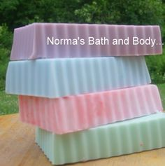 you'll get (4) glycerin soaps. they are made with shea butters to silken and to moisturize.. and they are yummy too!    you'll get a variety pack of scents.. you'll love them, and give as gifts.. it's
