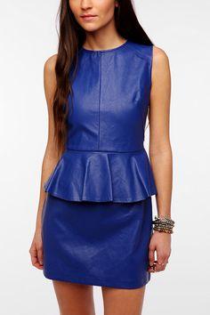 Lovers & Friends Faux Leather Peplum Dress #urbanoutfitters #peplum