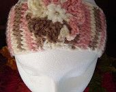 My Pink Cream Brown Ultra Soft Boho Womens Knitted Headband Ear Warmer featured here
