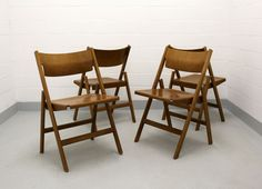 Swiss 1901 FS Folding Chairs by Hans Eichenberger for Dietiker, Set of 4 2